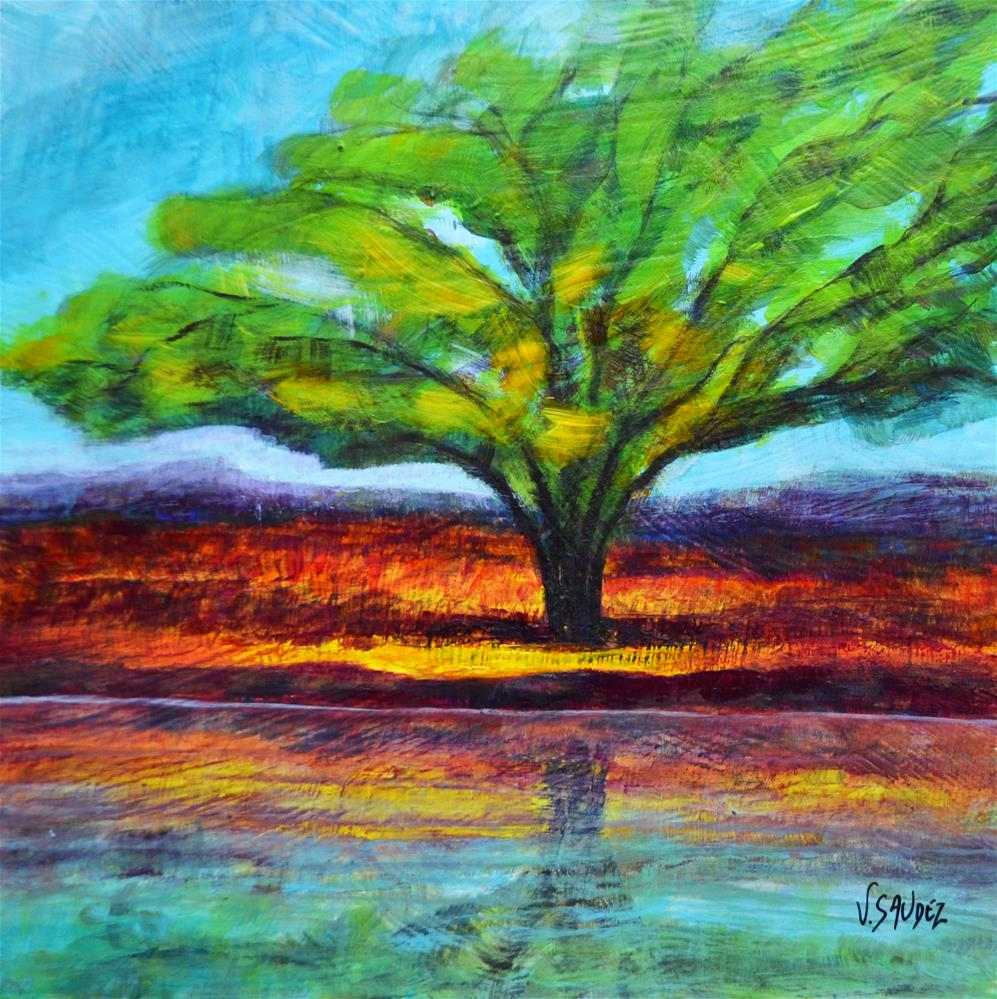 """Summer"" original fine art by Véronique Saudez"