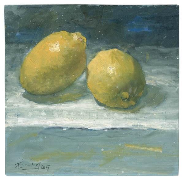 """""""Dos limones"""" original fine art by Emilio López"""