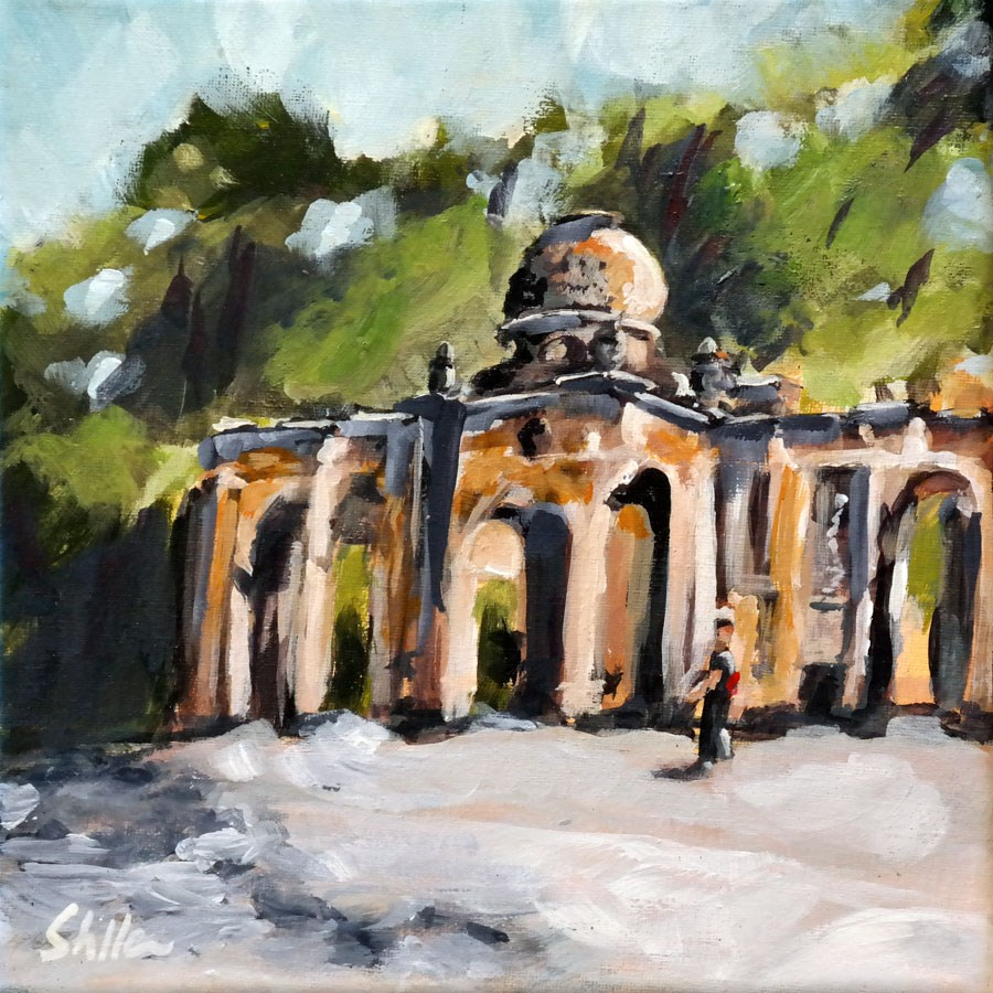 """1468 Emmichplatz Plein Air"" original fine art by Dietmar Stiller"
