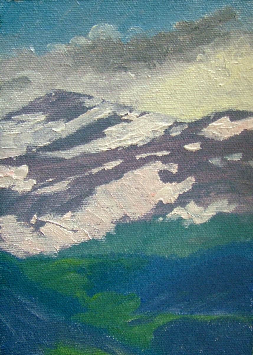 """Small Snow through Clouds"" original fine art by Nancy Paris Pruden"