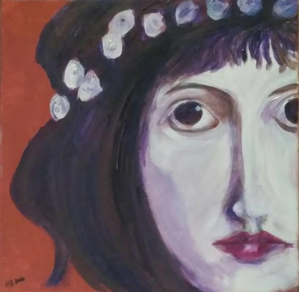 """""""Mariam"""" original fine art by Hallie Dozier"""