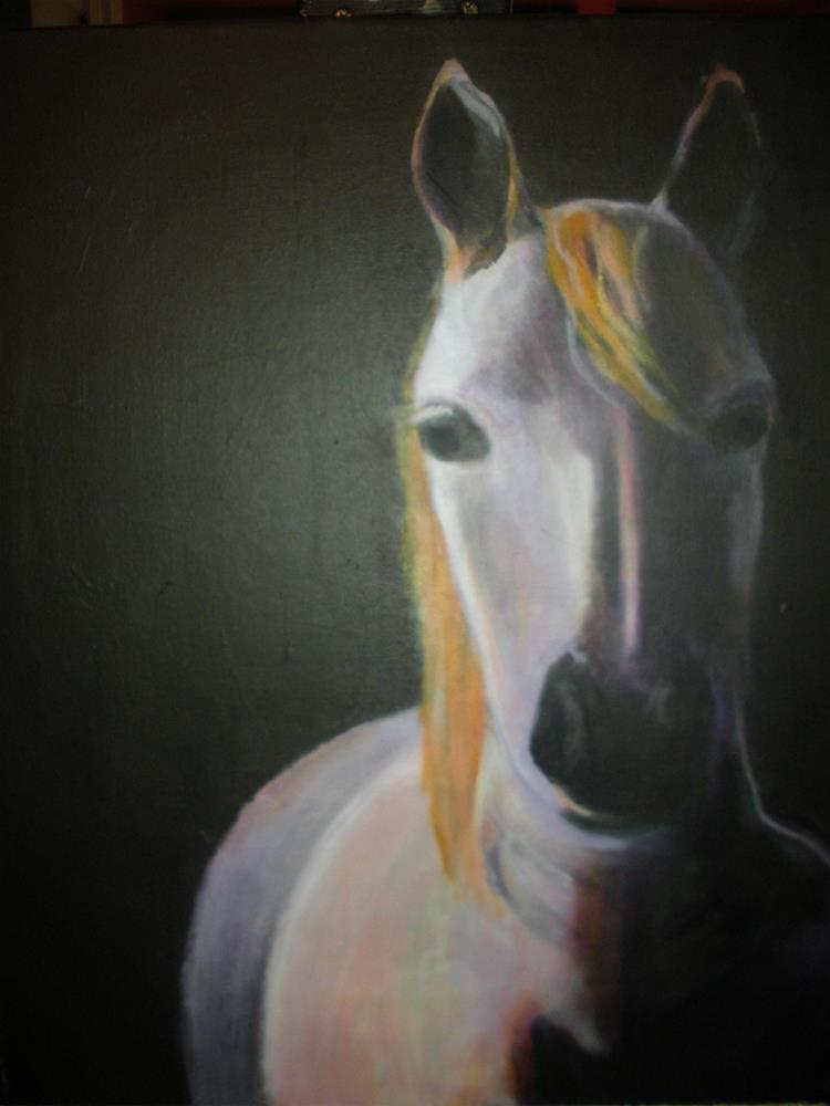 """Dark Horse"" original fine art by barbara quast"