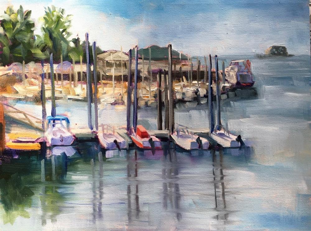 """Stony Creek Harbor, CT"" original fine art by Linda Marino"