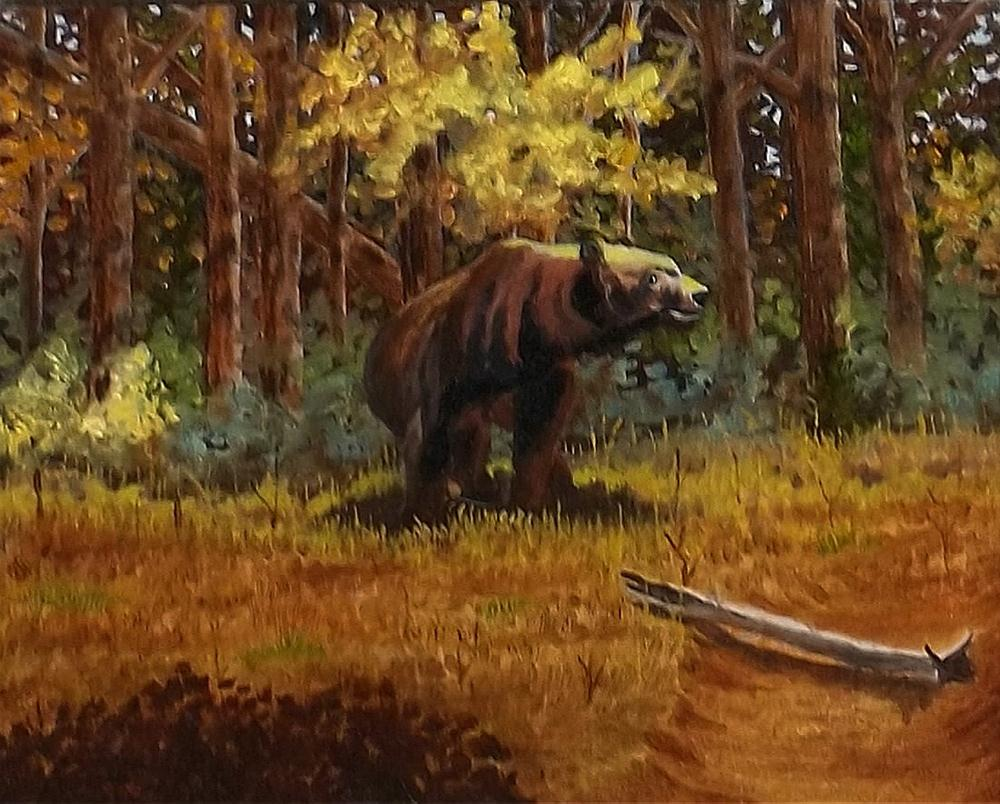 """""""Danger"""" original fine art by William W. Hoyt"""