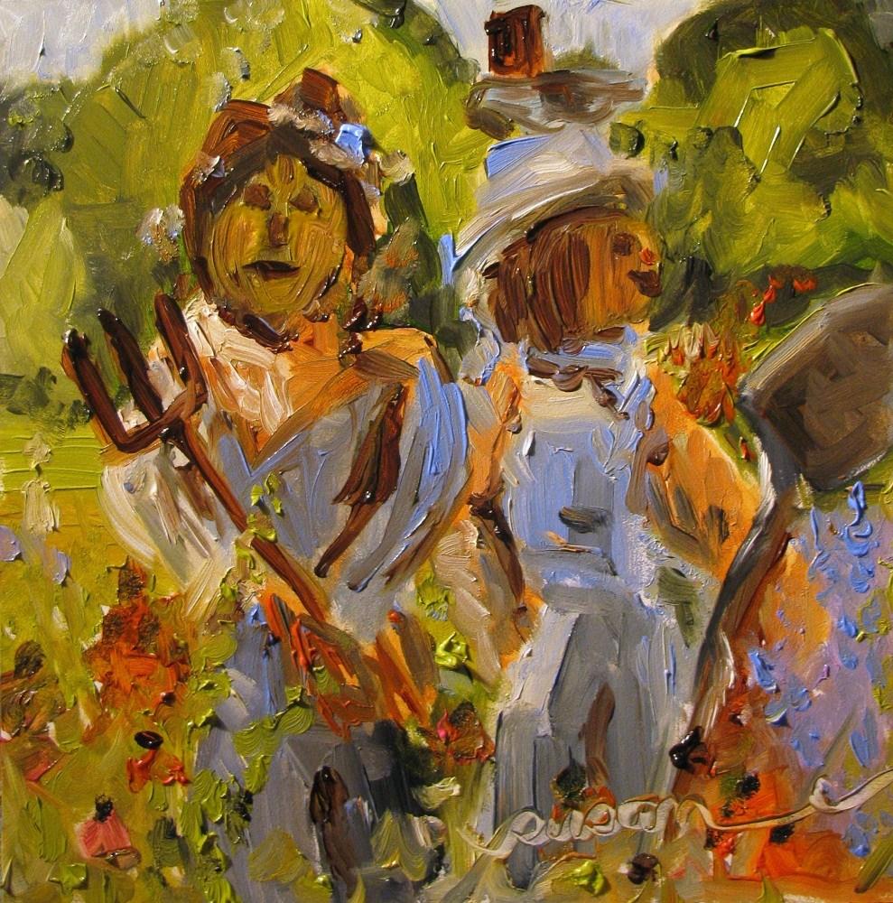 """""""Outstanding in their field"""" original fine art by Susan Elizabeth Jones"""