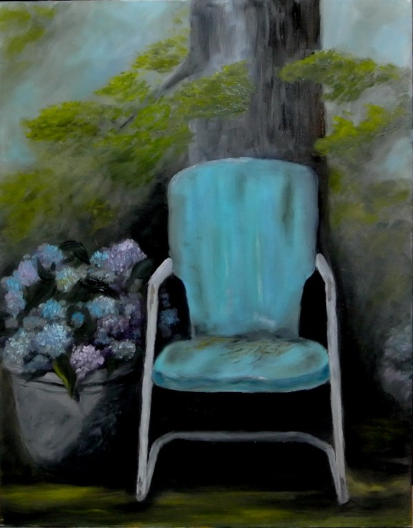 """Forgotten Chair"" original fine art by Mary Datum"