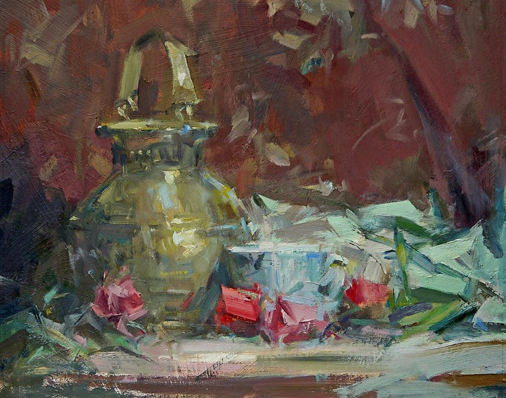 """Still Life with Roses"" original fine art by Mike Peterson"