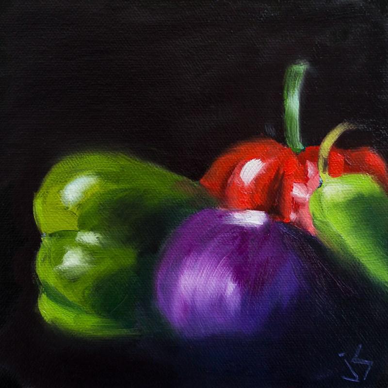 """""""Veggie Portrait"""" original fine art by Johnna Schelling"""