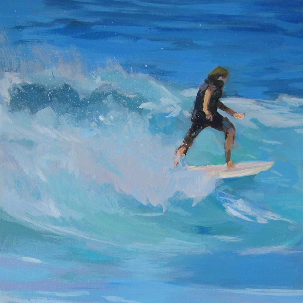 """Surfer"" original fine art by Kaethe Bealer"