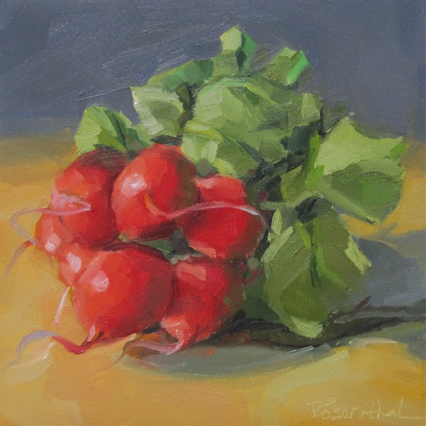 """Reckless Radishes"" original fine art by Robin Rosenthal"
