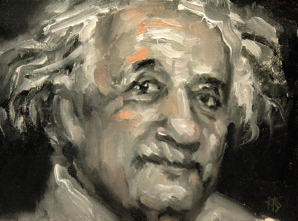 """The Einstein Challenge"" original fine art by Rachel K Schlueter"