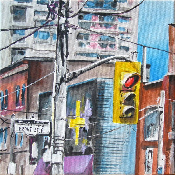 """""""0028 Front Street East"""" original fine art by Dietmar Stiller"""