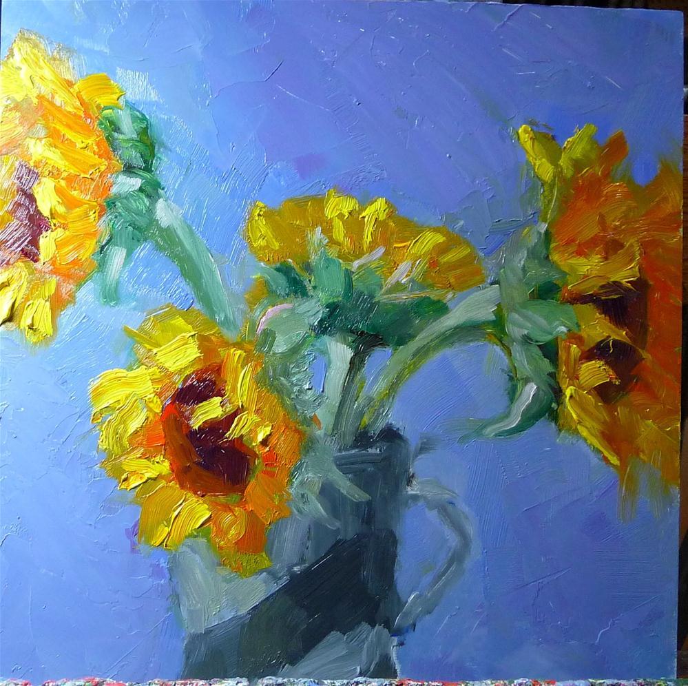 """Sunflowers"" original fine art by Carol Josefiak"