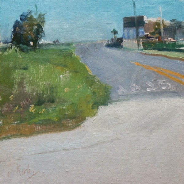 """Outskirts of Town"" original fine art by Randall Cogburn"
