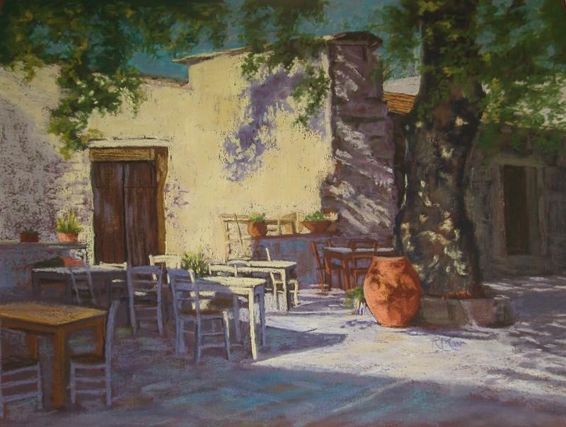 """Cretan Urn"" original fine art by Ruth Mann"