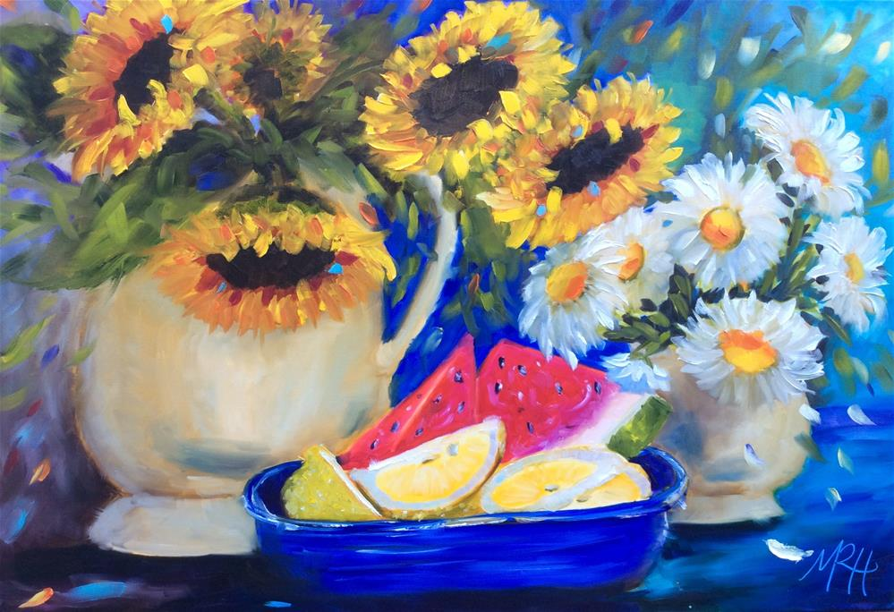 """Summer Celebration"" original fine art by Molly Rohrscheib Hathaway"