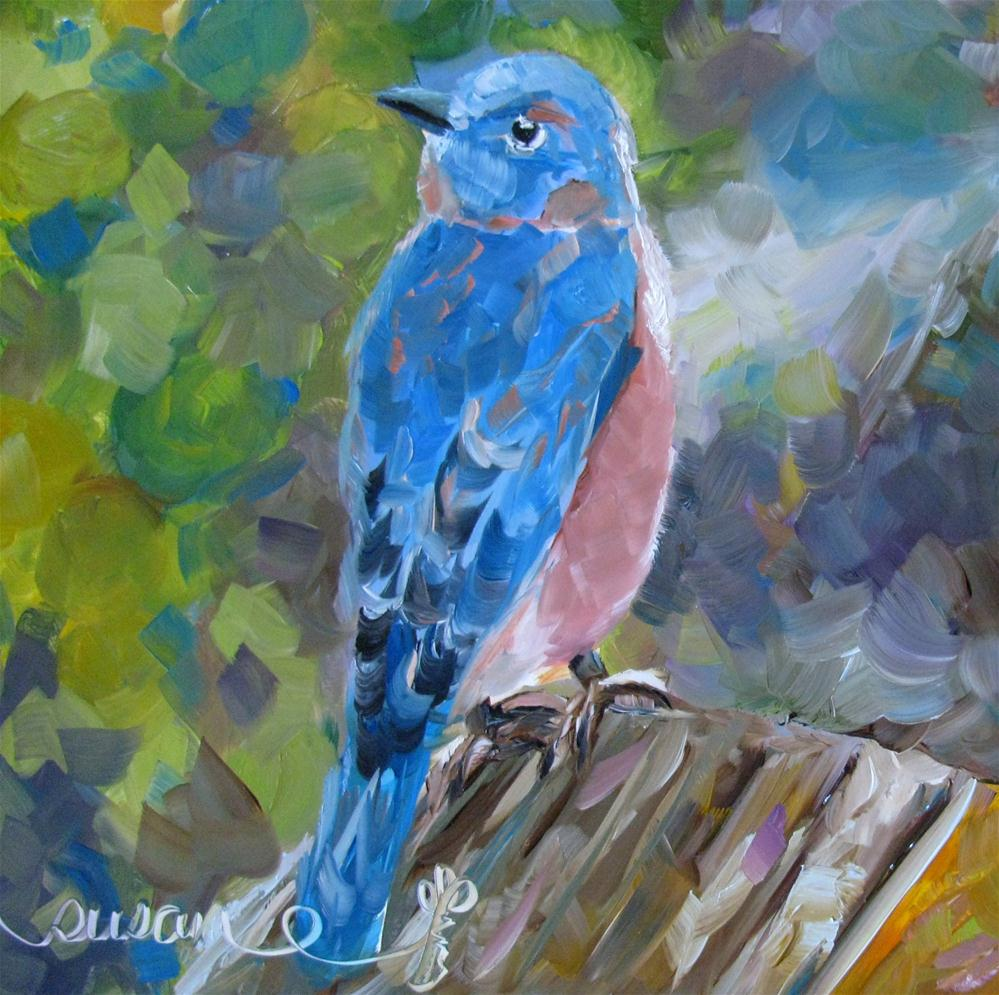 """Bluebird"" original fine art by Susan Elizabeth Jones"