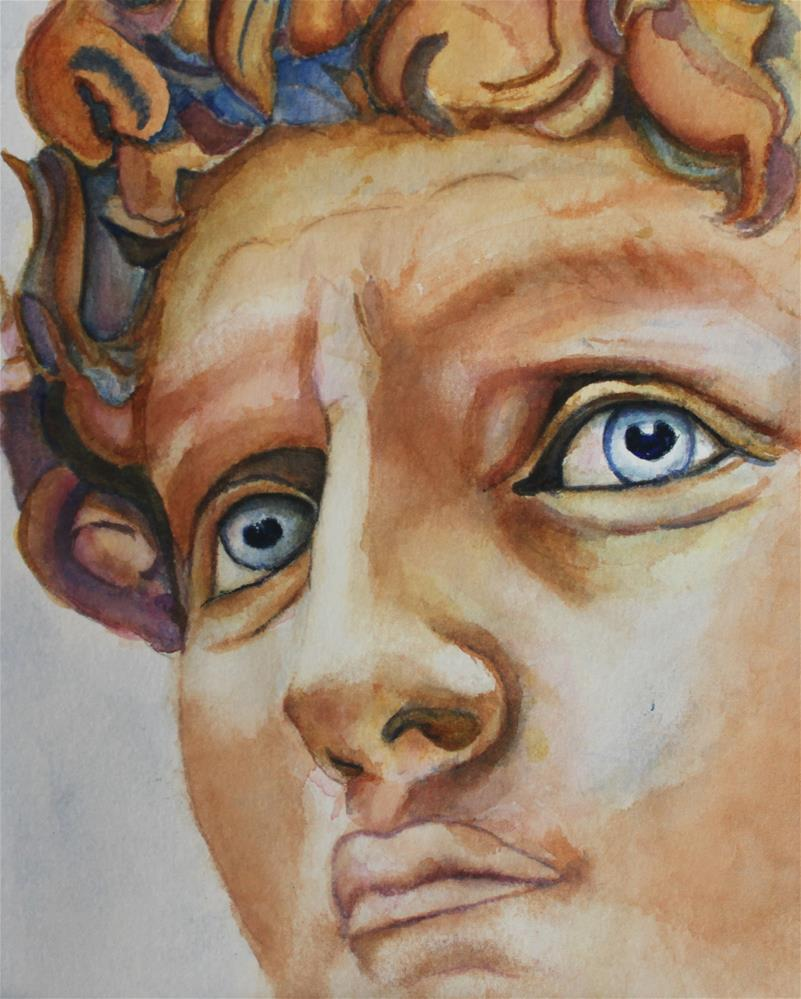 """Michelangelo's David in Color"" original fine art by Christiane Kingsley"