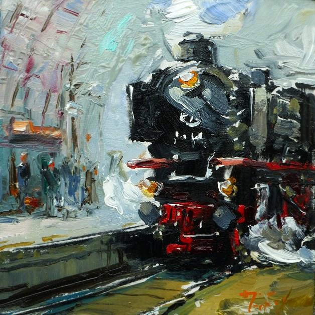 """Dampfzug"" original fine art by Jurij Frey"