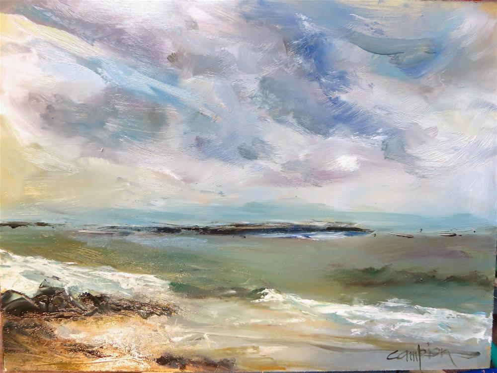 """605 Atlantic Ocean, March in Massachusetts"" original fine art by Diane Campion"