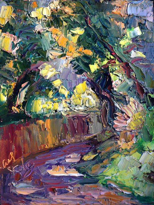 """Encina Road, Topanga"" original fine art by Carol Steinberg"