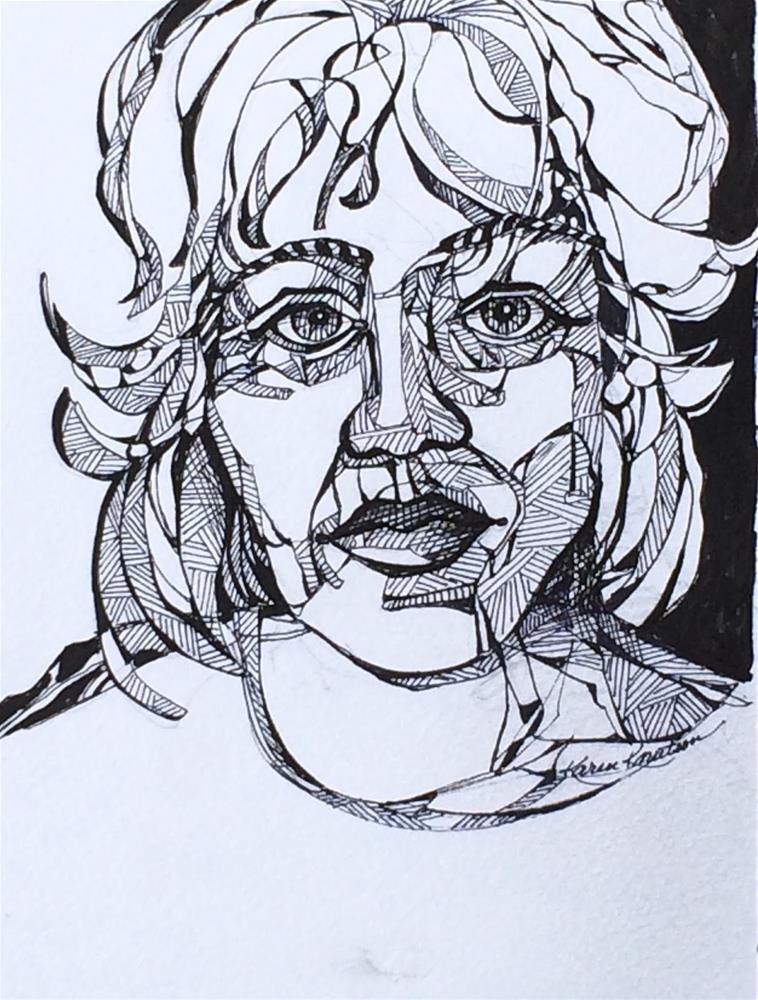 """""""Read my Mind, #8 Wire Drawing (30 Day Challenge)"""" original fine art by Karen Knutson"""