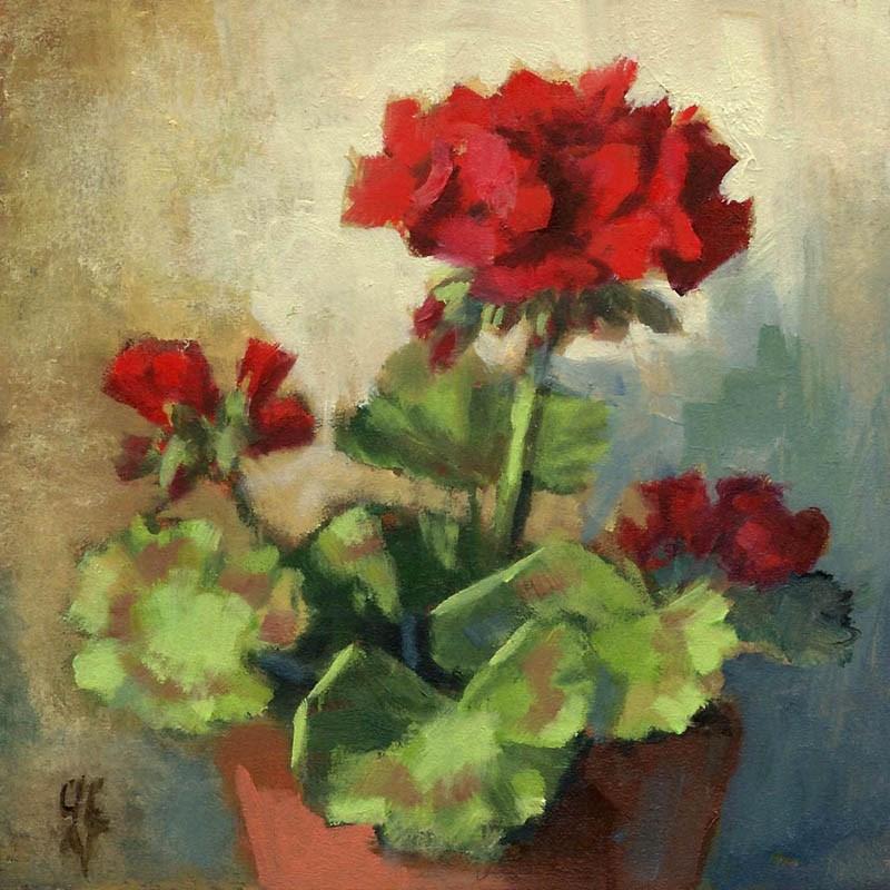 """Blooming"" original fine art by Linda Jacobus"