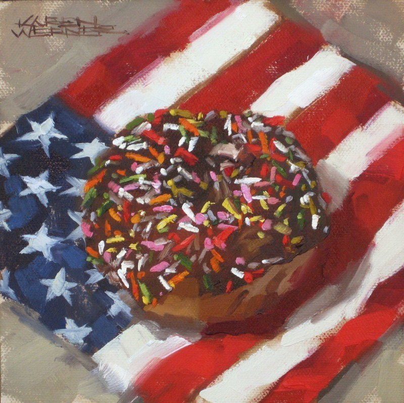 """Stars, Stripes & Sprinkles"" original fine art by Karen Werner"