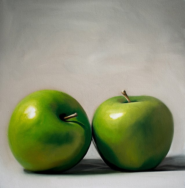 """Apple Duo"" original fine art by Lauren Pretorius"