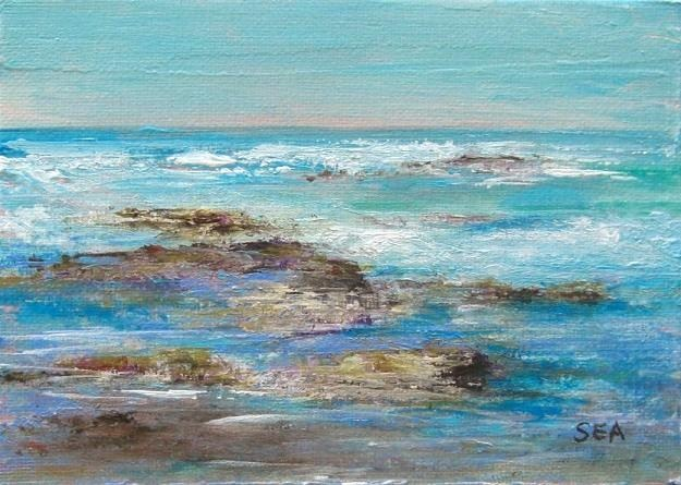 """2039 - Violet Sea"" original fine art by Sea Dean"