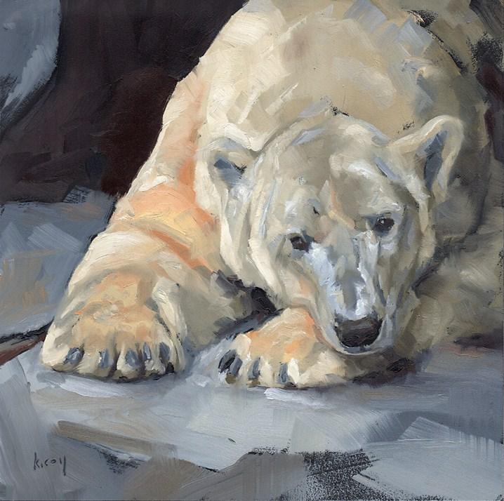 """""""Polar Musings"""" original fine art by Kathleen Coy"""
