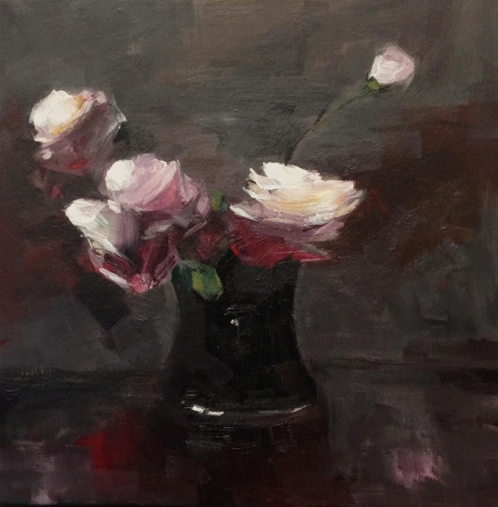 """""""blooming roses"""" original fine art by Parastoo Ganjei"""