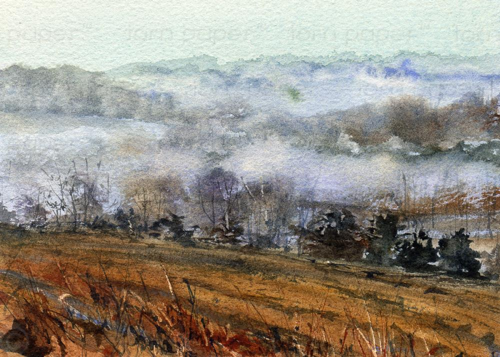 """Early Morning Mist"" original fine art by Linda Henry"