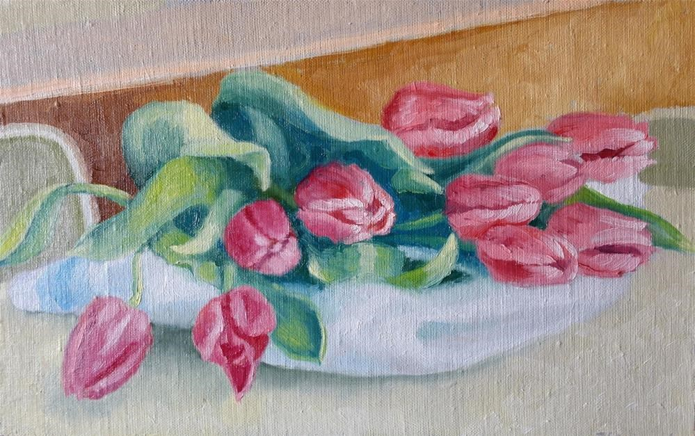 """tulips"" original fine art by Juri Semjonov"