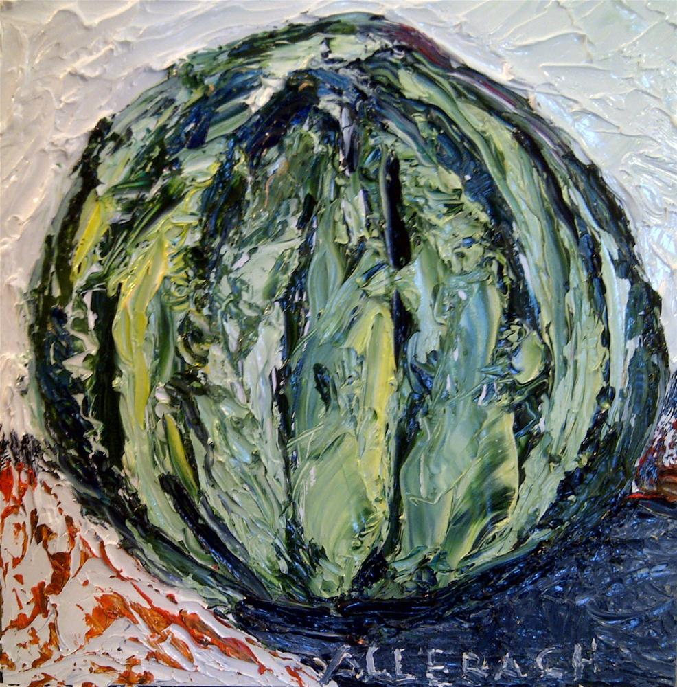 """small watermelon"" original fine art by Jo Allebach"