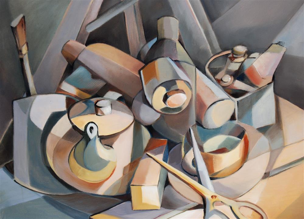 """""""Cubist still life"""" original fine art by Olga Touboltseva-Lefort"""