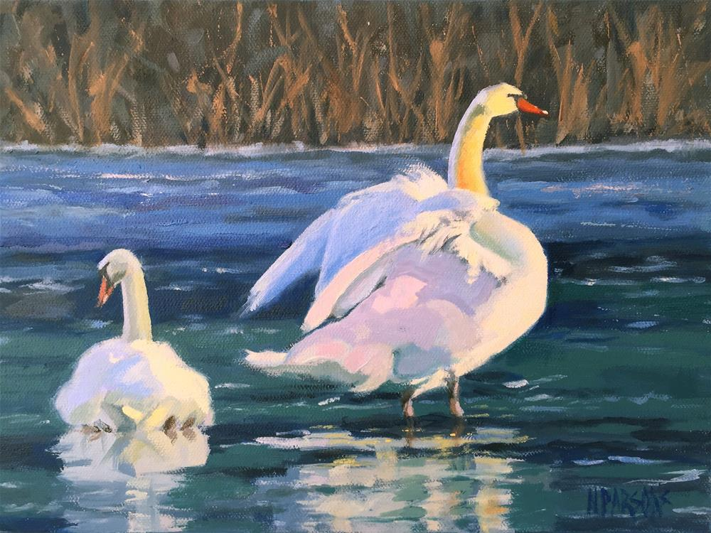 """Martha and Mary"" original fine art by Nancy Parsons"