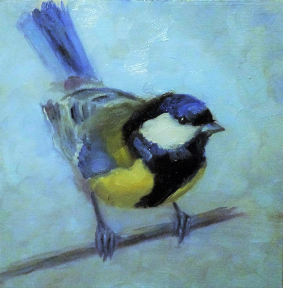 """Great tit"" original fine art by Maria Z."