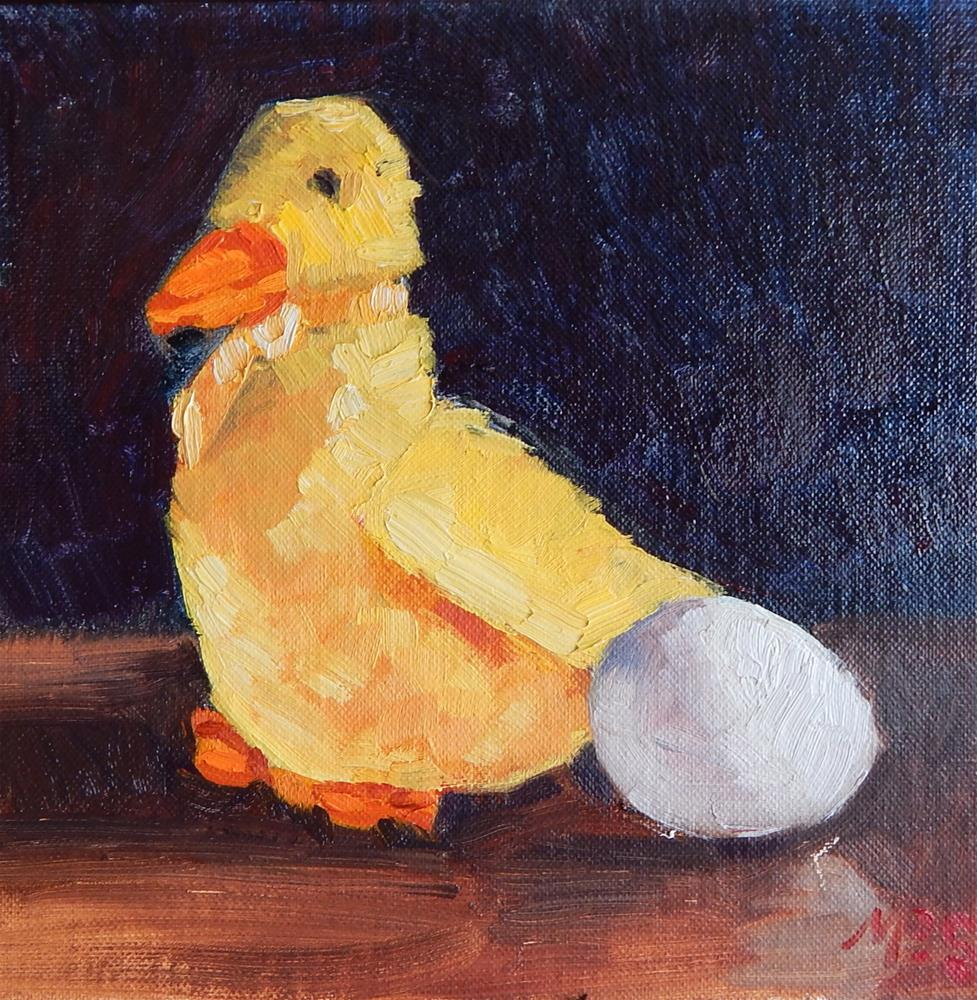 """Beanie Duck and Egg"" original fine art by Megan Schembre"