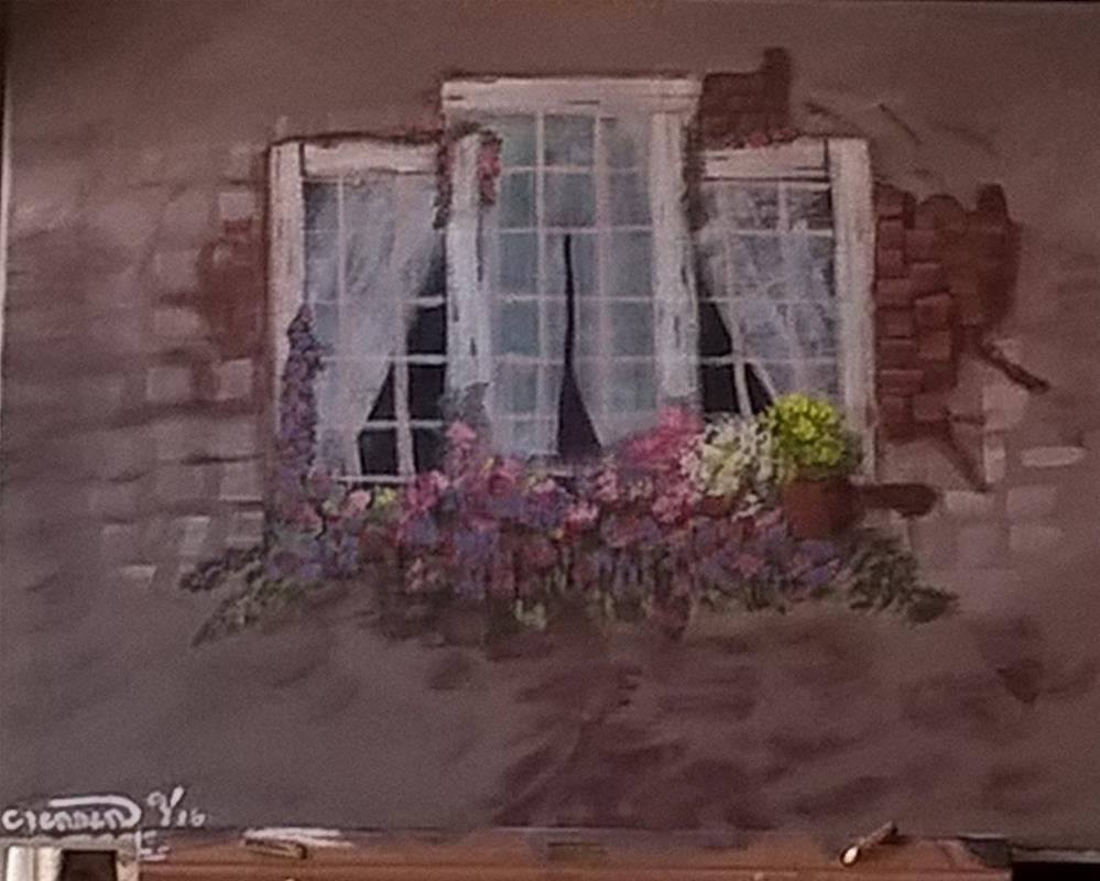"""The Window"" original fine art by Cindy Jensen"