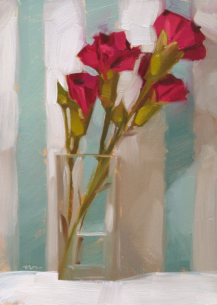 """Simple, Stripey Love"" original fine art by Carol Marine"
