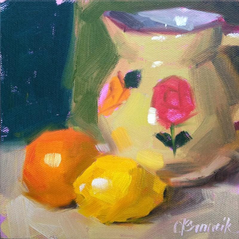 """Pretty Pitcher"" original fine art by Candace Brancik"