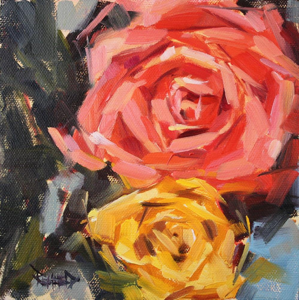 """Valentine Rose"" original fine art by Cathleen Rehfeld"