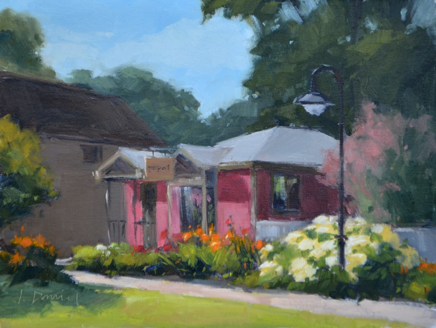 """Painting Papel - Door County Plein Air Festival"" original fine art by Laurel Daniel"