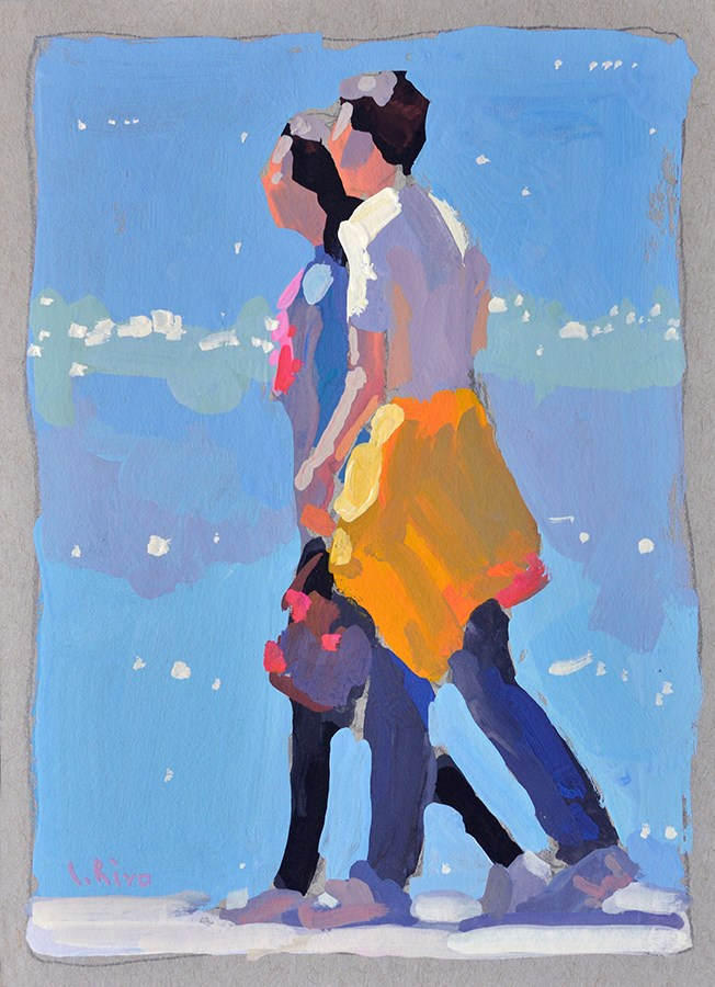 """Video Demonstration - Young Couple"" original fine art by Lena  Rivo"