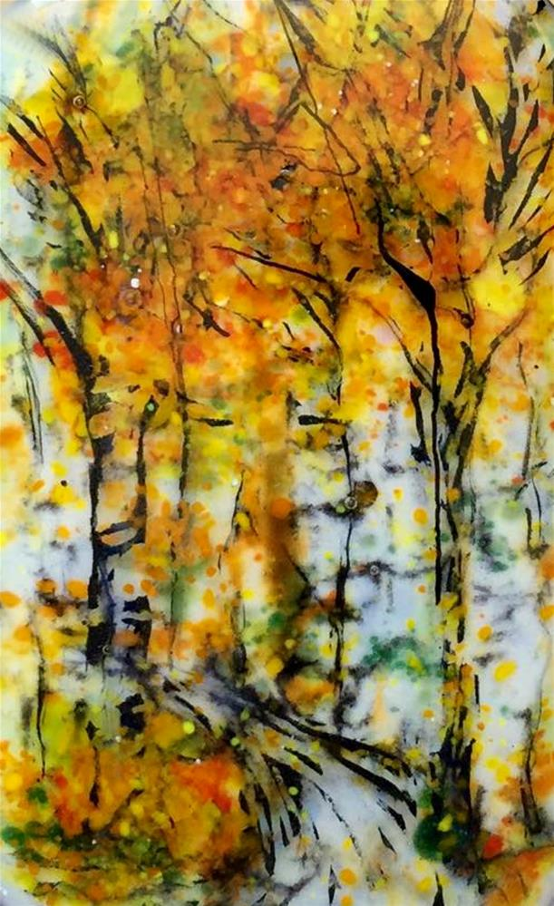 """""""Fall Fire"""" original fine art by Kristen Dukat"""