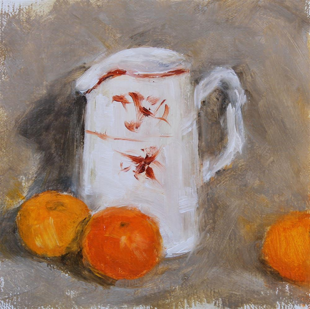 """Pitcher with Halos"" original fine art by Karen Solorzano"