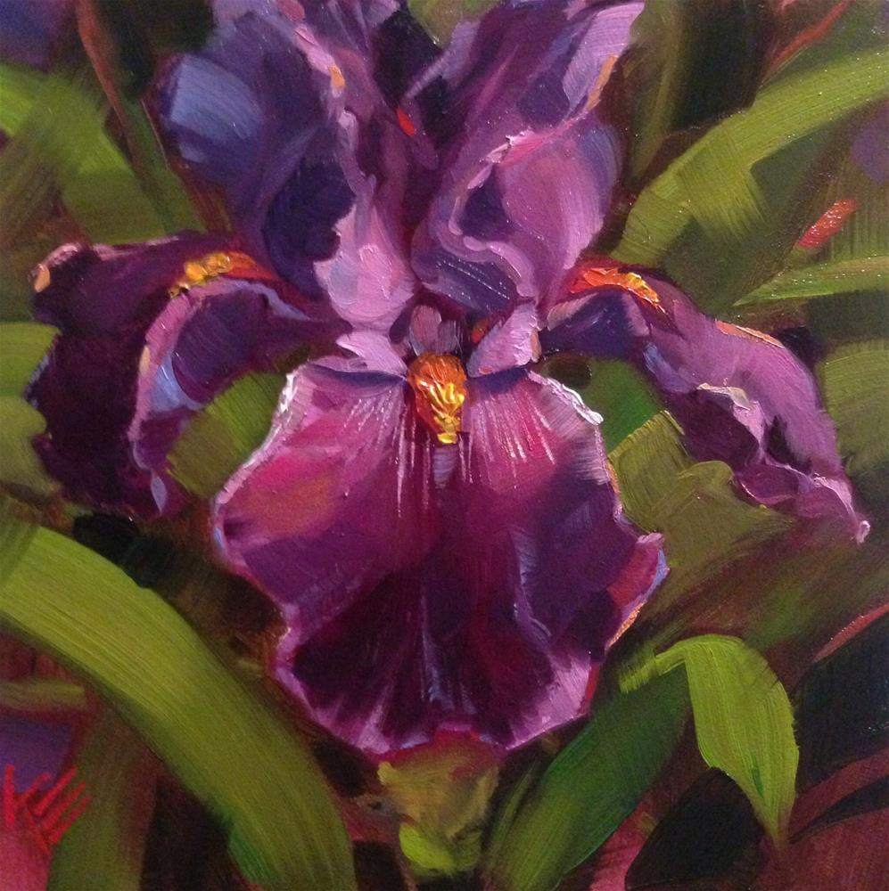 """Witches Wand Iris"" original fine art by Krista Eaton"