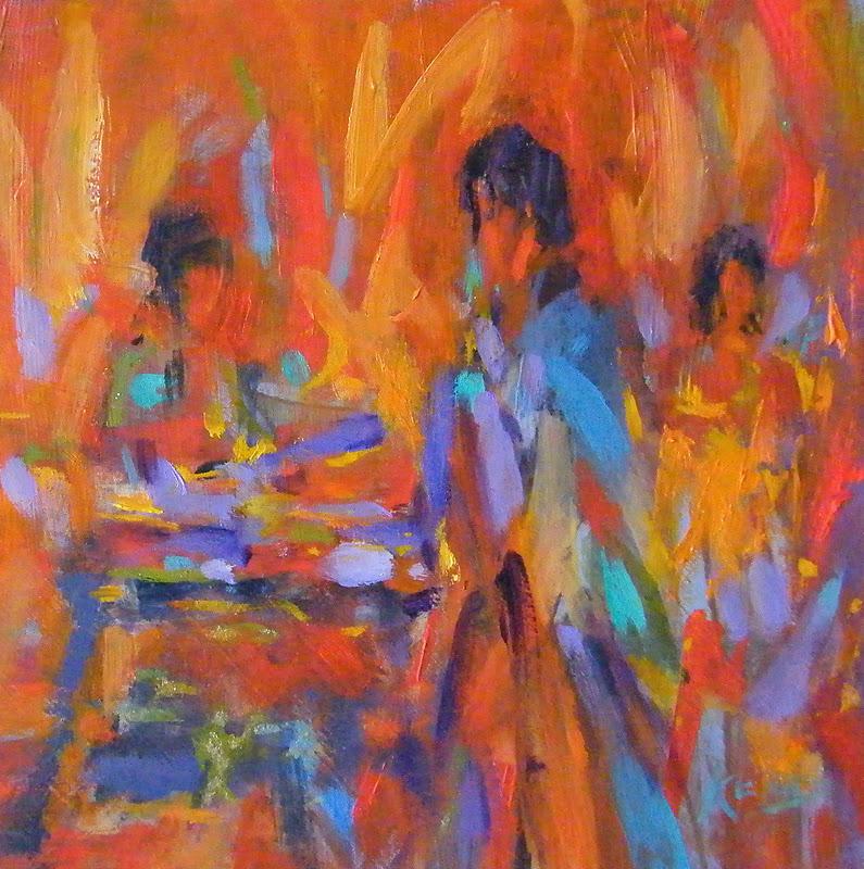 """Take a Seat"" original fine art by Ken Devine"