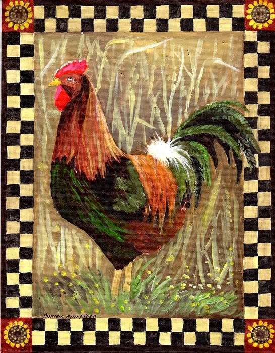 """Barnyard Boss"" original fine art by Patricia Ann Rizzo"